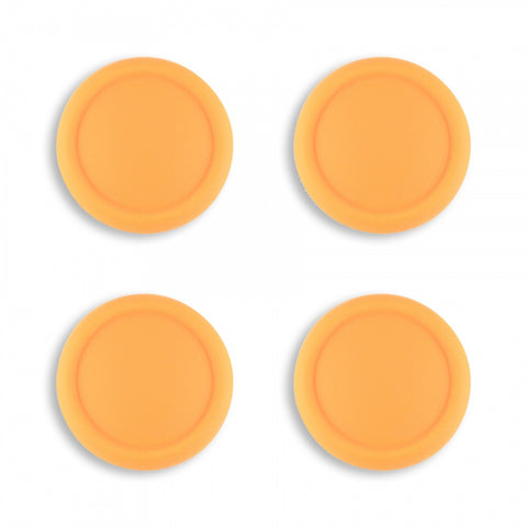 PlayVital Switch Joystick Caps, Switch Lite Thumb Stick Caps, Silicone Analog Cover Thumb Grip Rocker Caps for Nintendo Switch Joy-Con Controller & Switch Lite, 4 Pcs Caution Yellow - NJM1015