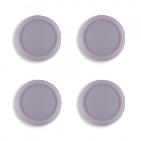 PlayVital Switch Joystick Caps, Switch Lite Thumb Stick Caps, Silicone Analog Cover Thumb Grip Rocker Caps for Nintendo Switch Joy-Con Controller & Switch Lite, 4 Pcs Dark Grayish Violet - NJM1017