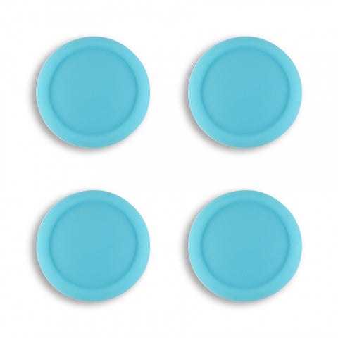 PlayVital Switch Joystick Caps, Switch Lite Thumb Stick Caps, Silicone Analog Cover Thumb Grip Rocker Caps for Nintendo Switch Joy-Con Controller & Switch Lite, 4 Pcs Bondi Blue - NJM1020