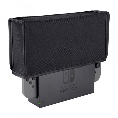 Black Nylon Dust Cover, Soft Velvet Lining Dust Guard, Anti Scratch Waterproof Cover Sleeve for Nintendo Switch Charging Dock - NSPJ0614