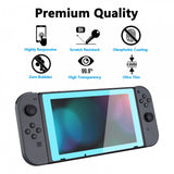 2 Pack Heaven Blue Border Transparent HD Clear Saver Protector Film, Tempered Glass Screen Protector for Nintendo Switch [Anti-Scratch, Anti-Fingerprint, Shatterproof, Bubble-Free] - NSPJ0704