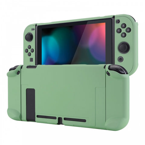 Matcha Green Back Cover for Nintendo Switch Console, NS Joycon Handheld Controller Separable Protector Hard Shell, Soft Touch Customized Dockable Protective Case for Nintendo Switch - NTP339
