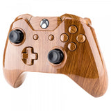 Wooden Grain Full Shell with Buttons for Xbox One Controller (3.5mm Version) - NXOS005