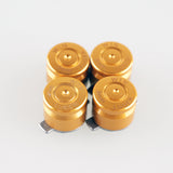 Alloy Metal Gold Customized Bullet Action Buttons Custom Kits for PS4 Controller - P3J0201