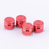 Aluminum Red Customized Bullet Action Buttons Custom Kits for PS4 Controller - P3J0203