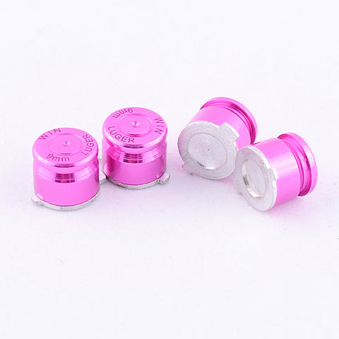 Aluminum Pink Customized Bullet Action Buttons Custom Kits for PS4 Controller - P3J0207