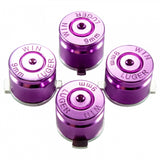 Aluminum  Purple Customized Bullet Action Buttons Custom Kits for PS4 Controller - P3J0210
