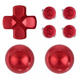 Metal Red Repair ThumbSticks Action Buttons Dpad for PS4 Pro Slim Controller -P4AJ0007GC