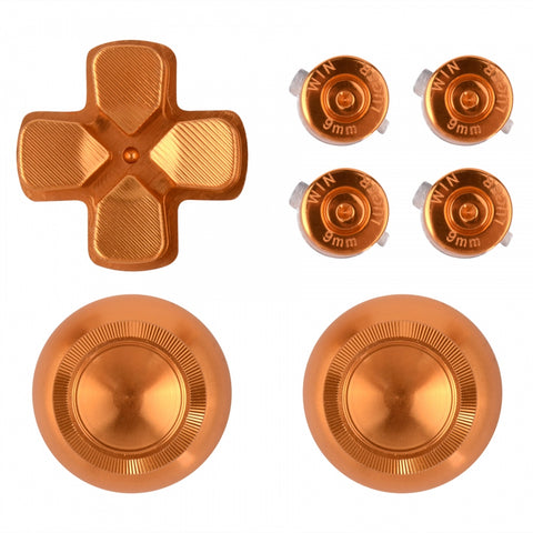 Metal Gold Repair ThumbSticks Action Buttons Dpad for PS4 Pro Slim Controller -P4AJ0008GC