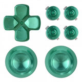 Metal Green Repair ThumbSticks Action Buttons Dpad for PS4 Pro Slim Controller -P4AJ0010GC