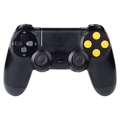 Solid Yellow Action Buttons Repair for Dualshock 4 PS4 Controller -P4J0204