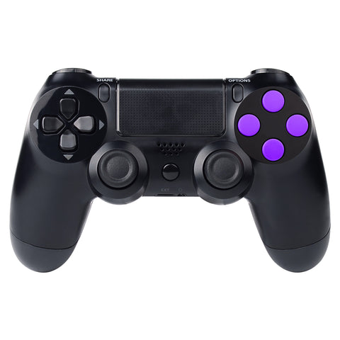 Solid Purple Action Buttons Repair for Dualshock 4 PS4 Controller -P4J0206