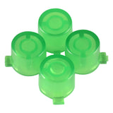 Transparent Green Action Buttons Repair for Dualshock 4 PS4 Controller-P4J0212