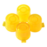 Transparent Yellow Action Buttons Repair for Dualshock 4 PS4 Controller-P4J0213