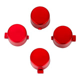 Customized Action Buttons Custom Kits for PS4 Controller Chrome Red-P4J0219
