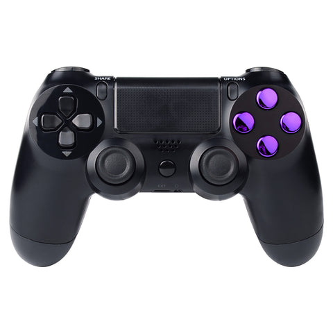Chrome Purple Action Buttons Repair for Dualshock 4 PS4 Controller-P4J0221