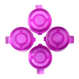 Customized Action Buttons Custom Kits for PS4 Controller Transparent Purple-P4J0236