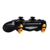 Chrome Orange Game Buttons R1L1 R2L2 Triggers Kits  For PS4 Controller - P4J0435