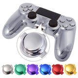 Chrome Blue Replacement Home Logo Buttons for Sony PS4 Controller - P4J0804