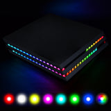 PlayVital RGB LED Light Strip 7 Colors 29 Effects DIY Decoration Accessories Flexible Tape Lights Strips Kit for PlayStation 4 Pro Console with IR Remote - P4LED03