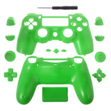 Solid Green Full Shell with Buttons Custom Kits for PS4 Controller - P4M05