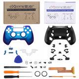 Chameleon Purple Blue DECADE Tournament Controller (DTC) Upgrade Kit for PS4 Controller JDM-040/050/055, Upgrade Board & Ergonomic Shell & Back Buttons & Trigger Stops - Controller NOT Included - P4MG004