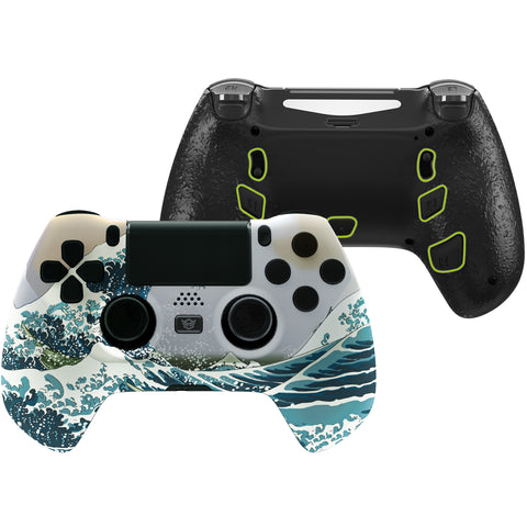 The Great Wave DECADE Tournament Controller (DTC) Upgrade Kit for PS4 Controller JDM-040/050/055, Upgrade Board & Ergonomic Shell & Back Buttons & Trigger Stops - Controller NOT Included - P4MG007