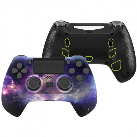 Nubula Galaxy DECADE Tournament Controller (DTC) Upgrade Kit for PS4 Controller JDM-040/050/055, Upgrade Board & Ergonomic Shell & Back Buttons & Trigger Stops - Controller NOT Included - P4MG008