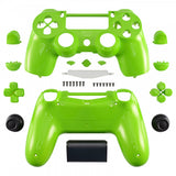 Glossy Green Full Shell with Buttons Mod Kits for PS4 Controller - P4P03