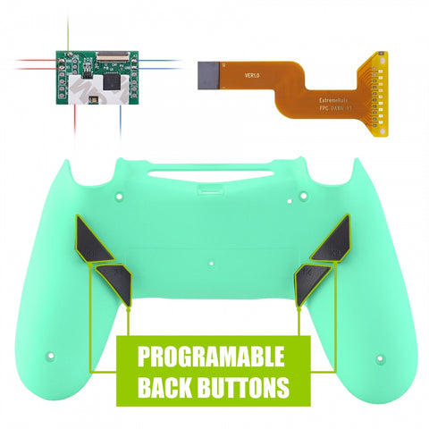 Mint Green Dawn Programable Remap Kit for PS4 Controller with Kit Chip & Redesigned Back Shell & 4 Back Buttons - Compatible with JDM-040/050/055 - P4RM019