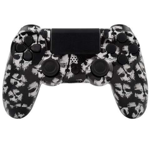White Ghosts Full Shell with Buttons Custom Kits for PS4 Controller - P4S007