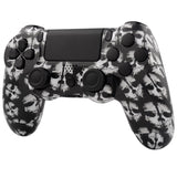 White Ghosts Full Shell with Buttons Mod Kits for PS4 Controller - P4S007