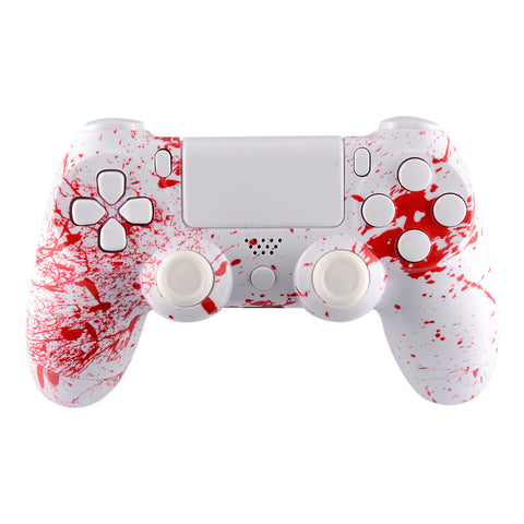 Blood Game Full Shell with Buttons Custom Kits for PS4 Controller - P4S027