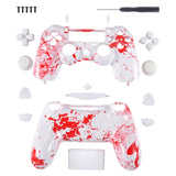Blood Game Full Shell with Buttons Mod Kits for PS4 Controller - P4S027