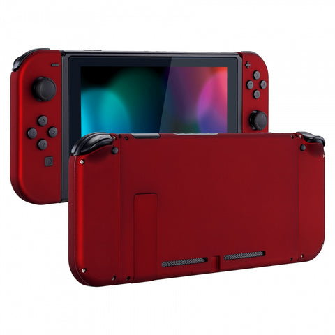 Soft Touch Grip Red Handheld Console Back Plate, Joycon Handheld Controller Housing Shell With Full Set Buttons DIY Replacement Part for Nintendo Switch - QP302