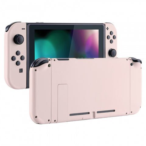 Soft Touch Grip Sakura Pink Handheld Console Back Plate, Joycon Handheld Controller Housing Shell With Full Set Buttons DIY Replacement Part for Nintendo Switch - QP306