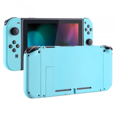 Soft Touch Grip Heaven Blue Handheld Console Back Plate, Joycon Handheld Controller Housing Shell With Full Set Buttons DIY Replacement Part for Nintendo Switch - QP307