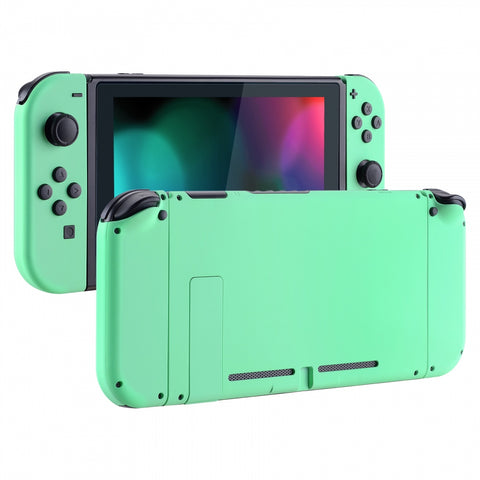 Soft Touch Grip Mint Green Handheld Console Back Plate, Joycon Handheld Controller Housing Shell With Full Set Buttons DIY Replacement Part for Nintendo Switch - QP308