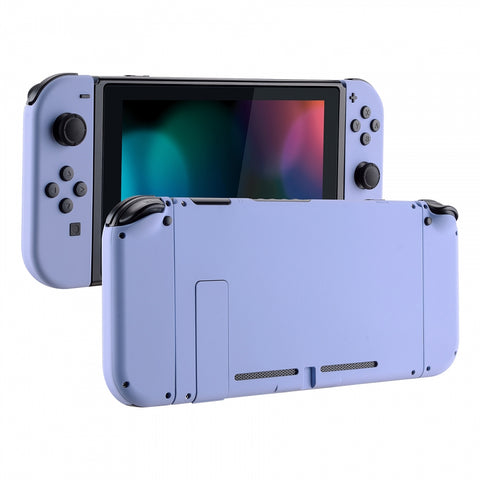 Soft Touch Grip Light Violet Handheld Console Back Plate, Joycon Handheld Controller Housing Shell With Full Set Buttons DIY Replacement Part for Nintendo Switch - QP309