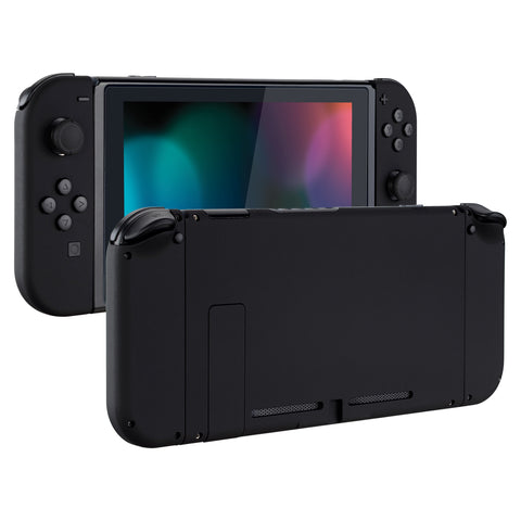 Soft Touch Grip Back Plate for Nintendo Switch Console, NS Joycon Handheld Controller Housing with Full Set Buttons, DIY Replacement Shell for Nintendo Switch - Black - QP310