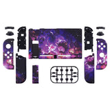 Back Plate for Nintendo Switch Console, NS Joycon Handheld Controller Housing with Full Set Buttons, DIY Replacement Shell for Nintendo Switch - Surreal Lava - QT109