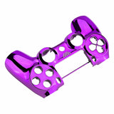Chrome Purple Faceplate Cover Front Housing Shell Replacement Kit for Playstation 4 PS4 Slim PS4 Pro Controller (CUH-ZCT2 JDM-040 JDM-050 JDM-055) - SP4FD09