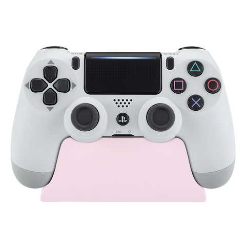 Sakura Pink Controller Display Stand for PlayStation 4, Gamepad Accessories Soft Touch Desk Holder for PS4 Slim PS4 Pro Controller with Rubber Pads - SP4H04