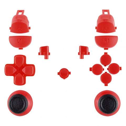 Solid Red Thumbsticks Buttons for PS4 Pro Slim Controller CUH-ZCT2 JDM-040 JDM-050 JDM-055 - SP4J0101
