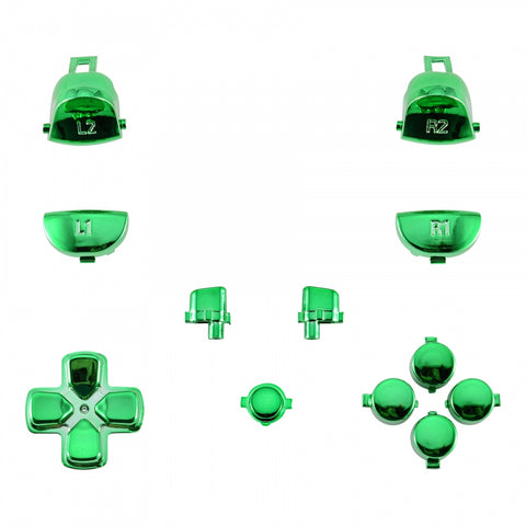 Chrome Green Full Set Buttons for Dualshock 4 PS4 Pro Slim Controller CUH-ZCT2 JDM-040 JDM-050 JDM-055 - SP4J0118
