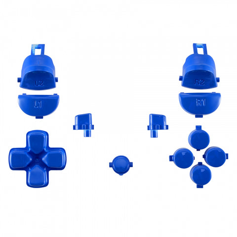 Glossy Blue Replacement Full Set Button for PS4 Pro Slim Game Controller CUH-ZCT2 JDM-040 JDM-050 JDM-055 - SP4J0119