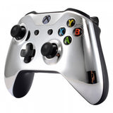 Chrome Silver Edition Front Housing Shell Faceplate for Microsoft Xbox One S & Xbox One X Controller - SXOFD02