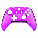 Chrome Purple Edition Front Housing Shell Faceplate for Xbox One S & Xbox One X Controller (Model 1708) - SXOFD05