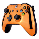 Chrome Orange Edition Front Housing Shell Faceplate for Xbox One S & Xbox One X Controller (Model 1708) - SXOFD07