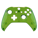 Transparent Crystal Clear Green Faceplate Cover, Front Housing Shell Case Replacement Kit for Xbox One S & Xbox One X Controller (Model 1708) - SXOFM05G